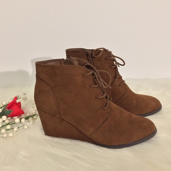 Baylie Laceup Wedge Ankle Boots | Poshmark